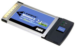 Linksys WPC54GS PCMCIA, SpeedBooster
